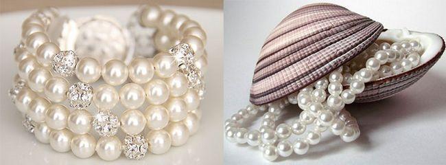 прикраси з натуральних перлів