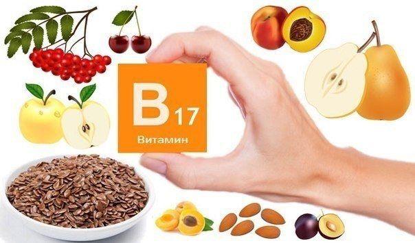 У яких продуктах міститься вітамін амигдалин (В17)?