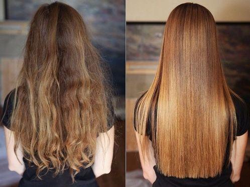 волосся після кератину