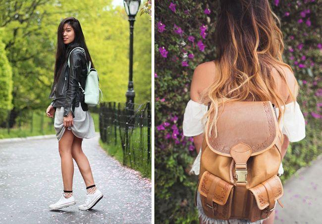 шкіряні жіночі рюкзаки