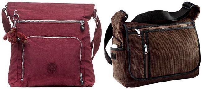 жіночі сумки через плече з текстилю великі