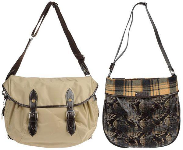 жіночі сумки через плече з текстилю середні
