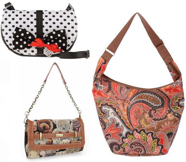 жіночі сумки через плече з кольоровими принтами