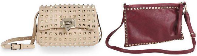 жіночі сумки через плече з шипами